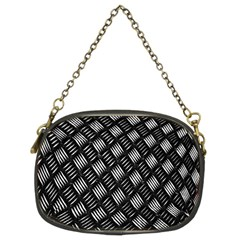 Abstract Of Metal Plate With Lines Chain Purses (Two Sides)