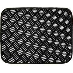 Abstract Of Metal Plate With Lines Double Sided Fleece Blanket (mini)