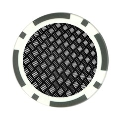 Abstract Of Metal Plate With Lines Poker Chip Card Guard (10 Pack)