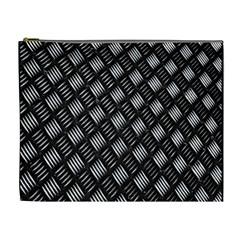 Abstract Of Metal Plate With Lines Cosmetic Bag (XL)