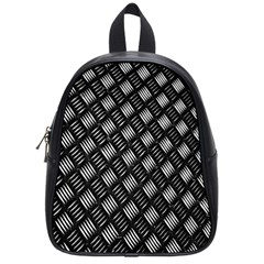 Abstract Of Metal Plate With Lines School Bags (Small)