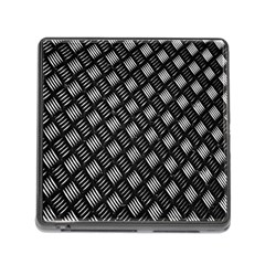Abstract Of Metal Plate With Lines Memory Card Reader (Square)