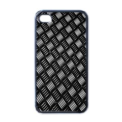 Abstract Of Metal Plate With Lines Apple Iphone 4 Case (black)