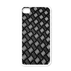 Abstract Of Metal Plate With Lines Apple iPhone 4 Case (White)