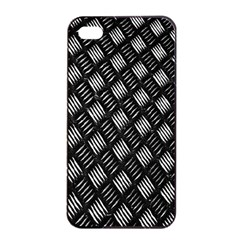 Abstract Of Metal Plate With Lines Apple Iphone 4/4s Seamless Case (black)