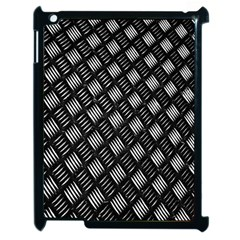 Abstract Of Metal Plate With Lines Apple Ipad 2 Case (black)