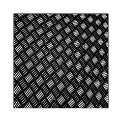 Abstract Of Metal Plate With Lines Acrylic Tangram Puzzle (6  X 6 )