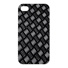 Abstract Of Metal Plate With Lines Apple Iphone 4/4s Premium Hardshell Case