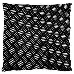 Abstract Of Metal Plate With Lines Large Cushion Case (two Sides)