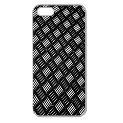 Abstract Of Metal Plate With Lines Apple Seamless Iphone 5 Case (clear)