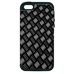 Abstract Of Metal Plate With Lines Apple Iphone 5 Hardshell Case (pc+silicone)