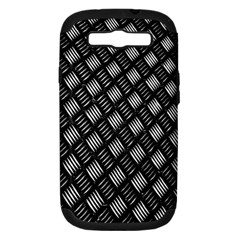 Abstract Of Metal Plate With Lines Samsung Galaxy S III Hardshell Case (PC+Silicone)