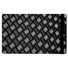 Abstract Of Metal Plate With Lines Apple Ipad 2 Flip Case