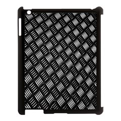 Abstract Of Metal Plate With Lines Apple Ipad 3/4 Case (black)