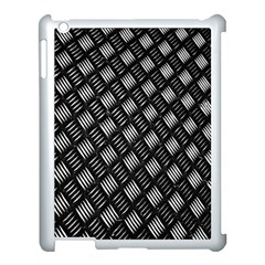 Abstract Of Metal Plate With Lines Apple Ipad 3/4 Case (white)