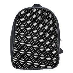 Abstract Of Metal Plate With Lines School Bags (xl)