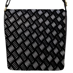 Abstract Of Metal Plate With Lines Flap Messenger Bag (s)