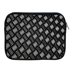 Abstract Of Metal Plate With Lines Apple Ipad 2/3/4 Zipper Cases