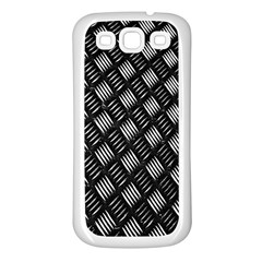 Abstract Of Metal Plate With Lines Samsung Galaxy S3 Back Case (white)