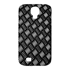 Abstract Of Metal Plate With Lines Samsung Galaxy S4 Classic Hardshell Case (PC+Silicone)