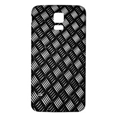 Abstract Of Metal Plate With Lines Samsung Galaxy S5 Back Case (white)
