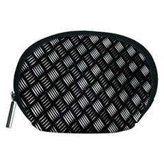 Abstract Of Metal Plate With Lines Accessory Pouches (medium)