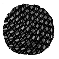 Abstract Of Metal Plate With Lines Large 18  Premium Flano Round Cushions