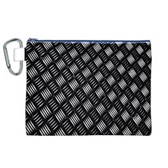 Abstract Of Metal Plate With Lines Canvas Cosmetic Bag (xl)