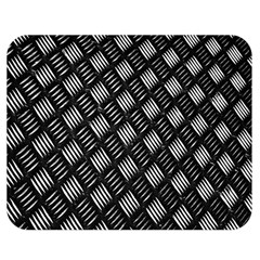 Abstract Of Metal Plate With Lines Double Sided Flano Blanket (medium)