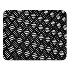 Abstract Of Metal Plate With Lines Double Sided Flano Blanket (large)