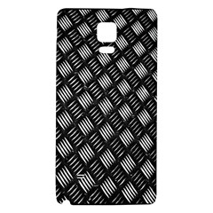 Abstract Of Metal Plate With Lines Galaxy Note 4 Back Case