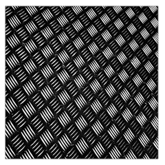 Abstract Of Metal Plate With Lines Large Satin Scarf (Square)