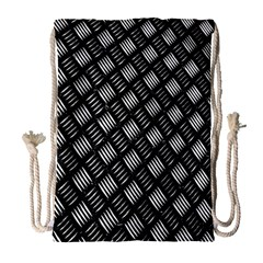 Abstract Of Metal Plate With Lines Drawstring Bag (large)