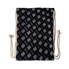 Abstract Of Metal Plate With Lines Drawstring Bag (Small)