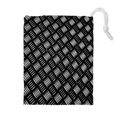 Abstract Of Metal Plate With Lines Drawstring Pouches (Extra Large)