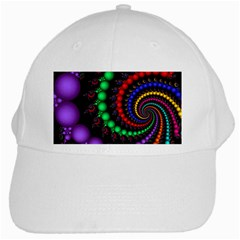 Fractal Background With High Quality Spiral Of Balls On Black White Cap