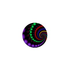 Fractal Background With High Quality Spiral Of Balls On Black 1  Mini Buttons
