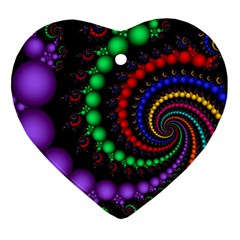 Fractal Background With High Quality Spiral Of Balls On Black Ornament (heart)