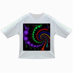 Fractal Background With High Quality Spiral Of Balls On Black Infant/toddler T Shirts