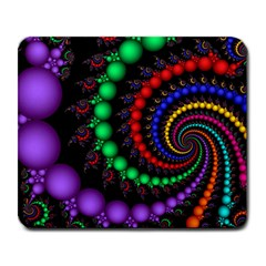 Fractal Background With High Quality Spiral Of Balls On Black Large Mousepads