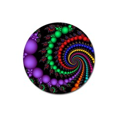 Fractal Background With High Quality Spiral Of Balls On Black Magnet 3  (round)