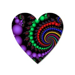 Fractal Background With High Quality Spiral Of Balls On Black Heart Magnet
