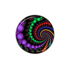 Fractal Background With High Quality Spiral Of Balls On Black Hat Clip Ball Marker