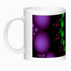 Fractal Background With High Quality Spiral Of Balls On Black Night Luminous Mugs