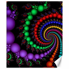 Fractal Background With High Quality Spiral Of Balls On Black Canvas 8  X 10