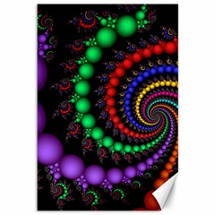 Fractal Background With High Quality Spiral Of Balls On Black Canvas 12  x 18