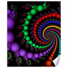 Fractal Background With High Quality Spiral Of Balls On Black Canvas 16  x 20