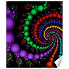Fractal Background With High Quality Spiral Of Balls On Black Canvas 20  x 24