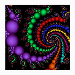 Fractal Background With High Quality Spiral Of Balls On Black Medium Glasses Cloth (2 Side)