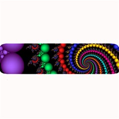 Fractal Background With High Quality Spiral Of Balls On Black Large Bar Mats